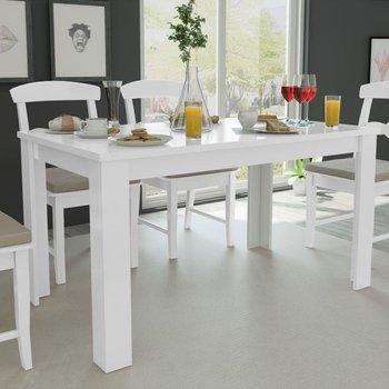 Stół do jadalni vidaXL, drewniany, biały, 140x80x75 cm-vidaXL