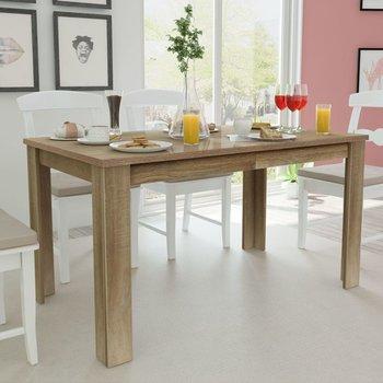 Stół do jadalni vidaXL, drewniany, brązowy, 140x80x75 cm-vidaXL