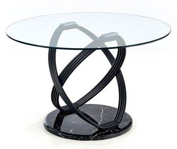 Stół ELIOR Azis, czarny, 77x122x122 cm-Elior