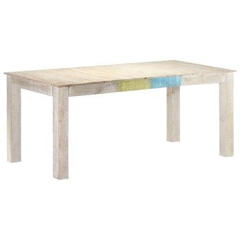 Stół jadalniany, biały, 180 x 90 x 76 cm, lite drewno mango-vidaXL