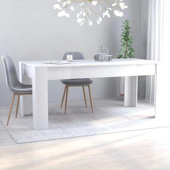 Stół jadalniany, biały, 180x90x76 cm, płyta wiórowa-vidaXL