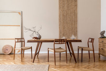 Stół jadalniany IN WOOD WE TRUST Hayes, brązowy, 77x180x90 cm-In Wood We Trust