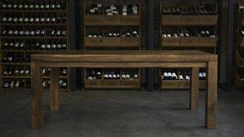 Stół jadalniany IN WOOD WE TRUST Roosevelt, brązowy, 180x90x77 cm-In Wood We Trust