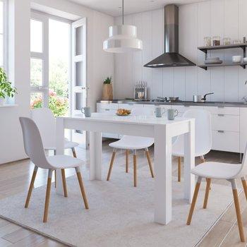 Stół na wysoki połysk, biały, 120x60x76 cm, płyta wiórowa-vidaXL