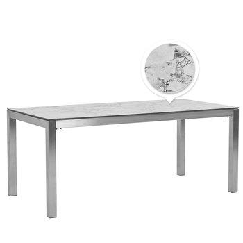 Stół ogrodowy HPL 180 x 90 cm efekt marmuru GROSSETO-Beliani