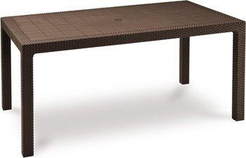 Stół ogrodowy Melody, brązowy, 95x160x74 cm-Keter