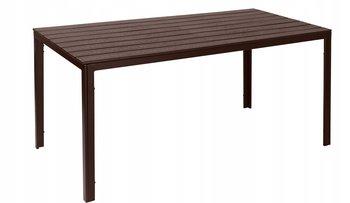 Stół ogrodowy MODERNHOME ciemnobrązowy, 74x156x78 cm-Modernhome
