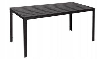 Stół ogrodowy MODERNHOME, czarny, 74x156x78 cm-Modernhome