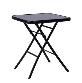 Stół ogrodowy składany MODERNHOME, czarny, 60 cm-Modernhome