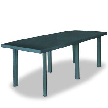 Stół ogrodowy VIDAXL, plastikowy, zielony, 210x96x72 cm -vidaXL