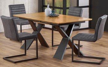 Stół rozkładany ELIOR Eden, brązowy, 75x220x90 cm-Elior