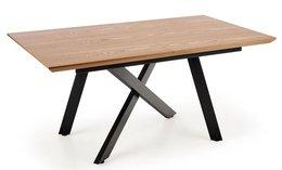 Stół rozkładany ELIOR Fabier 2X, brązowy, 76x200x90 cm