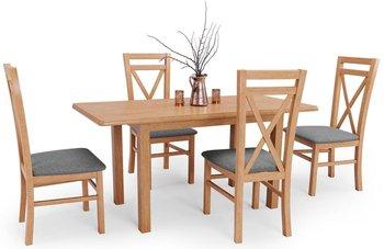 Stół rozkładany ELIOR Rafael, jasnobrązowy, 74x68x158 cm, 4 szt.-Elior