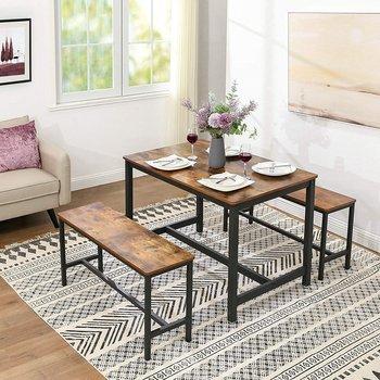 Stół w stylu industrialnym do jadalni, rustykalny, loft-Vasagle