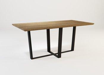 Stół z litego drewna i stali V03 SJ OAK-LOFTABLE