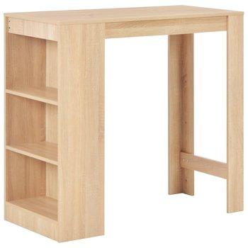 Stolik barowy z półkami, dębowy, 110 x 50 x 103 cm-vidaXL