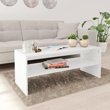 Stolik kawowy, biały, 100 x 40 x 40 cm, płyta wiórowa-vidaXL