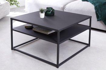 Stolik kawowy INVICTA INTERIOR DURA, czarny, 70x70x40 cm-Invicta Interior