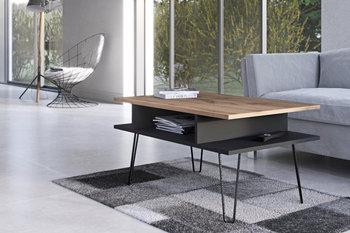 Stolik kawowy ława Toscana czarny/wotan-4 House Design