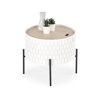Stolik kawowy STYLE FURNITURE Zoe, biało-jasnobrązowo-czarny, 35x35 cm-Style Furniture