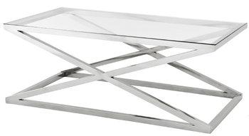 Stolik kawowy szklany TUTUMI Glamour CT-018, chrom, 50x90x43 cm-Tutumi