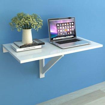 Stolik na ściane vidaXL, składany, biały, 100x60x56 cm-vidaXL