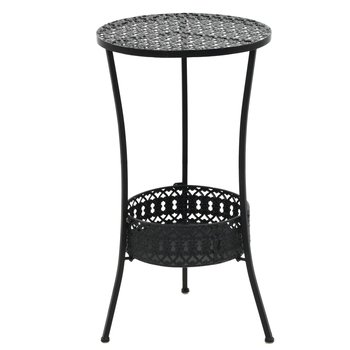 Stolik okrągły VIDAXL, metalowy, czarny, 40x70 cm-vidaXL