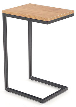 Stolik pod laptopa ELIOR Ostin, dąb złoty-czarny, 30x40x60 cm-Elior
