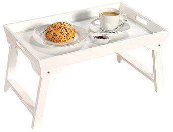 Stolik rozkładany KESPER, biały, 52x32x27 cm-KESPER