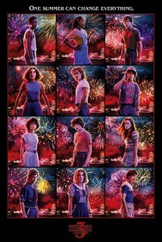 Stranger Things 3 Bohaterowie - plakat 61x91,5 cm-Pyramid Posters