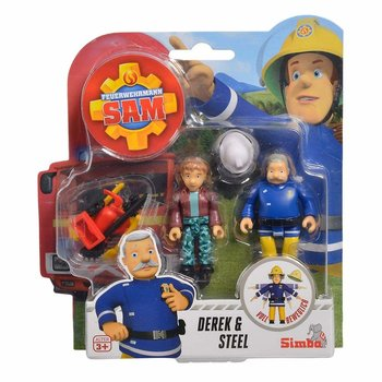 Strażak Sam, zestaw figurek Derek i Steel