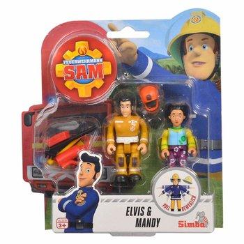 Strażak Sam, zestaw figurek Elvis i Mandy