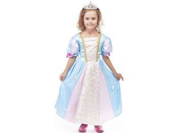 Strój dla dzieci Księżniczka Amelia, błękitno-biały, rozmiar 110-116 cm-Aster