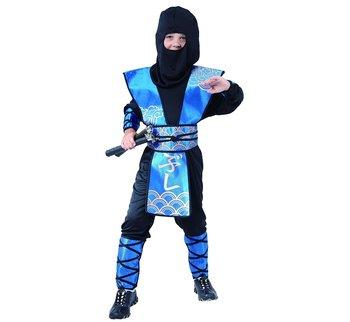 Strój dla dzieci, Ninja niebieski, rozmiar 130/140 cm-GoDan