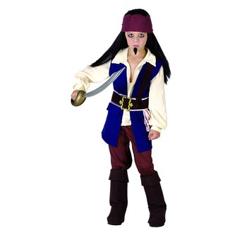 Strój pirata z Karaibów, rozmiar 110/120 cm-GoDan