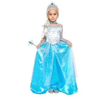 Strój śnieżnej księżniczki, rozmiar 130/140 cm