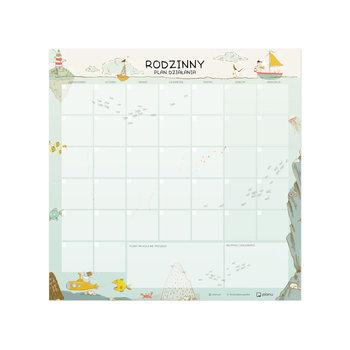 Suchościeralny planer rodzinny na lodówkę, miesięczny, Podwodna Wyprawa, 50 x 50 cm