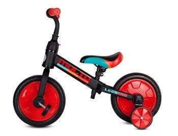 Sun Baby, rowerek Biegowy Molto Leggero Z Opcją + Pedały + Kółka Boczne Czerwony Sun Baby-Sun Baby