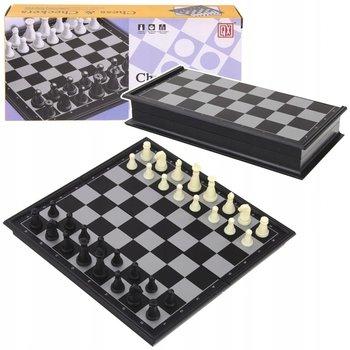SuperZabaweczki, gra strategiczna Szachy Warcaby Magnetyczne Podróżne, 2w1-SuperZabaweczki