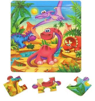 SuperZabaweczki, puzzle drewniane Dinozaury-SuperZabaweczki