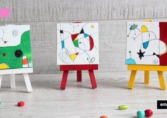Surrealistyczny tryptyk w mini skali - poznaj i zainspiruj się sztuką Joan Miro