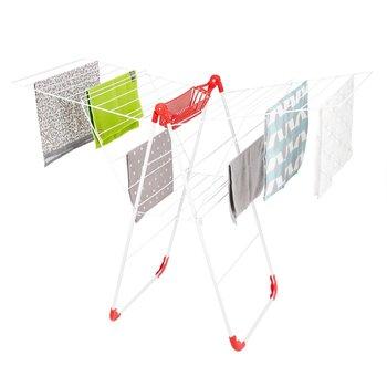 Suszarka balkonowa TADAR Lucy, 56x134x100 cm, biało-czerwona-Tadar