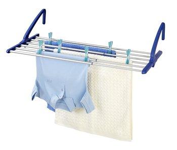 Suszarka na pranie WENKO, srebrno-niebieska, 21x37,5x57-106 cm-WENKO