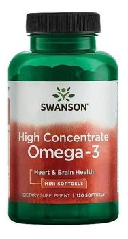 Swanson, suplement diety High Concentrate Omega 3, 120 kapsułek-Swanson