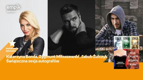 Świąteczna sesja autografów: Bonda, Miłoszewski, Żulczyk