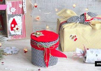 Świąteczne pakowanie - inspiracje z wykorzystaniem tkanin