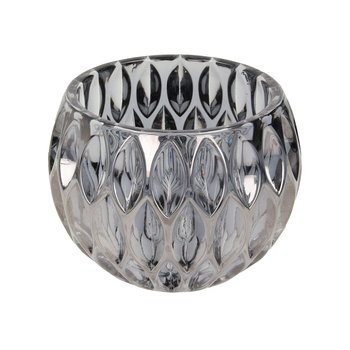 Świecznik DEKORIA szklany Royon, 14,5×14,5×11 cm -Dekoria