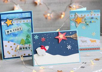 Zrób świąteczną kartkę - gwiazdę wśród pocztówek!