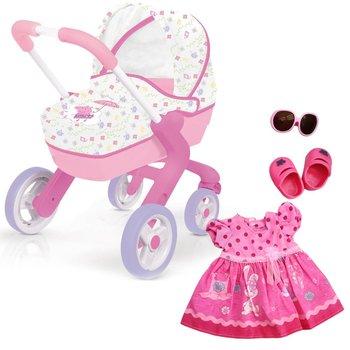 Świnka Peppa , wózek dla lalek z ubrankiem -Smoby