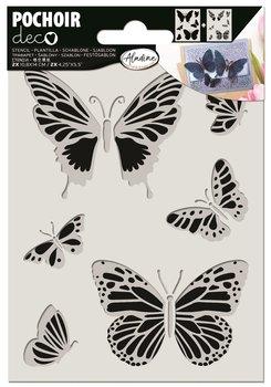 Szablon 2-stopniowy 10,8x14cm, Motyle-Aladine